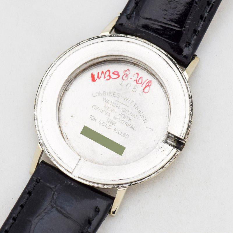 1957 Vintage Longines Mystery Dial Ref. 1053 10k White Gold Filled Watch