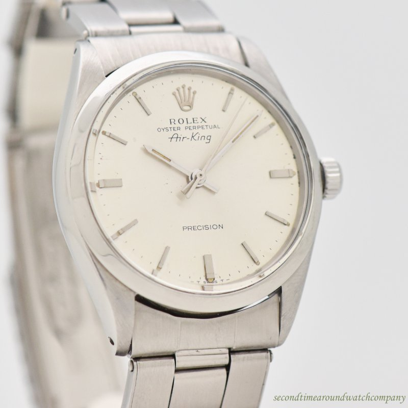 1966 Vintage Rolex Air-King Reference 5500 Stainless Steel Watch