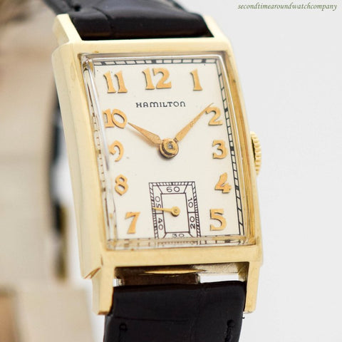 SOLD 1949 Vintage Hamilton Cambridge 14k Yellow Gold Watch
