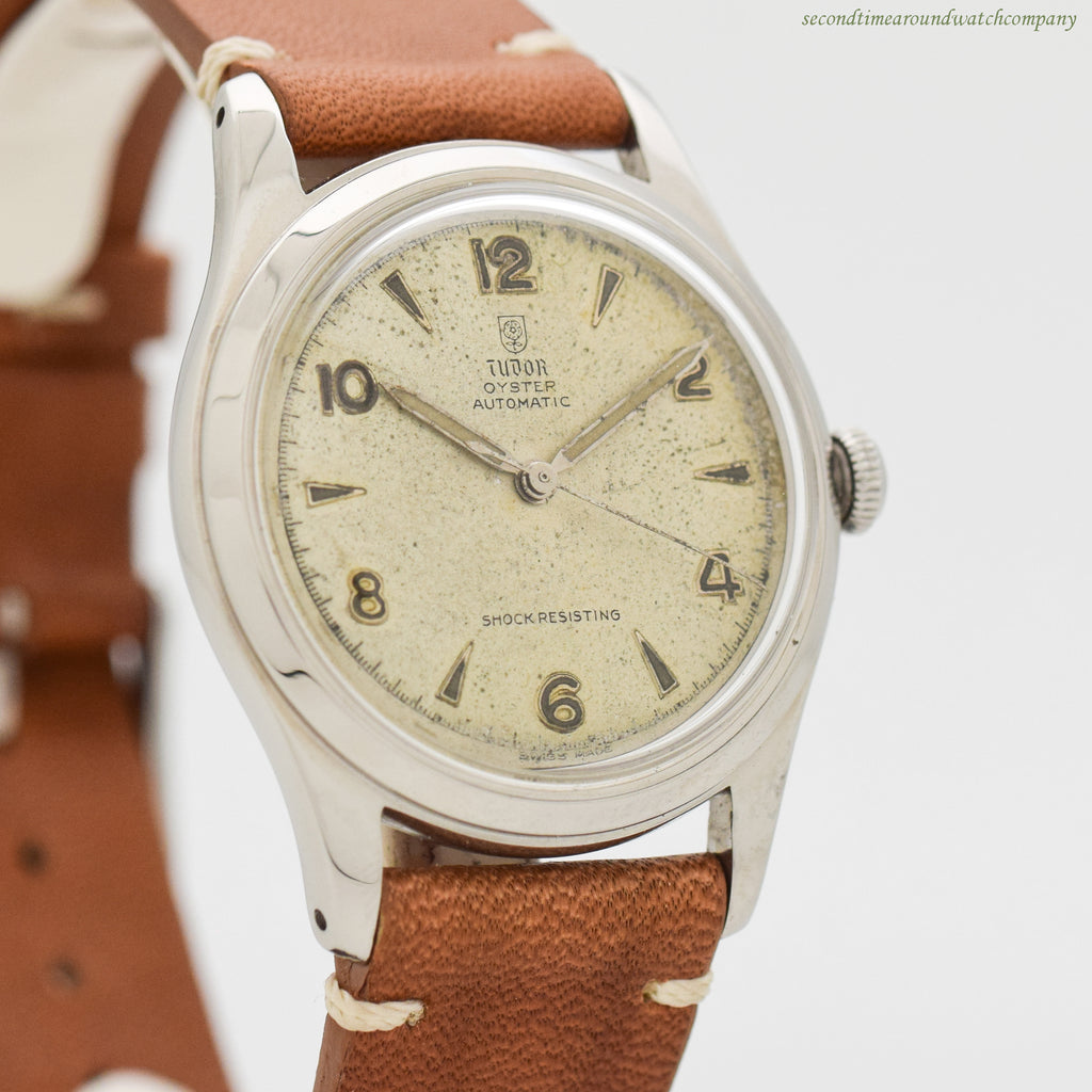 1950's Vintage Tudor Oyster Automatic Stainless Steel Watch