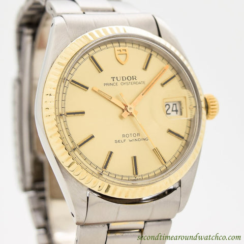 1977 Vintage Tudor By Rolex Oyster Prince Ref. 9071/3 14K Yellow Gold & Stainless Steel Watch
