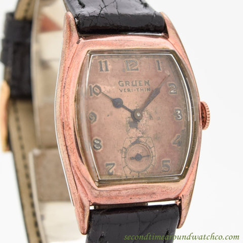 1930's Vintage Gruen Veri-thin 10k Rose Gold Filled Watch