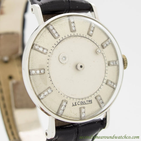 "1950's Jaeger LeCoultre Mystery Dial ""Vacheron Galaxy"" 14k White Gold Watch"