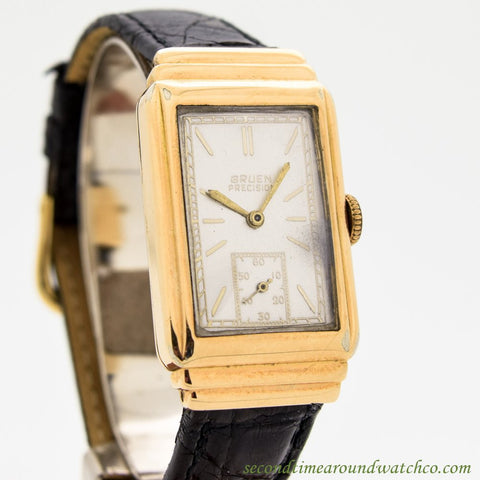 1930's Vintage Gruen Precision Yellow Gold Filled Watch