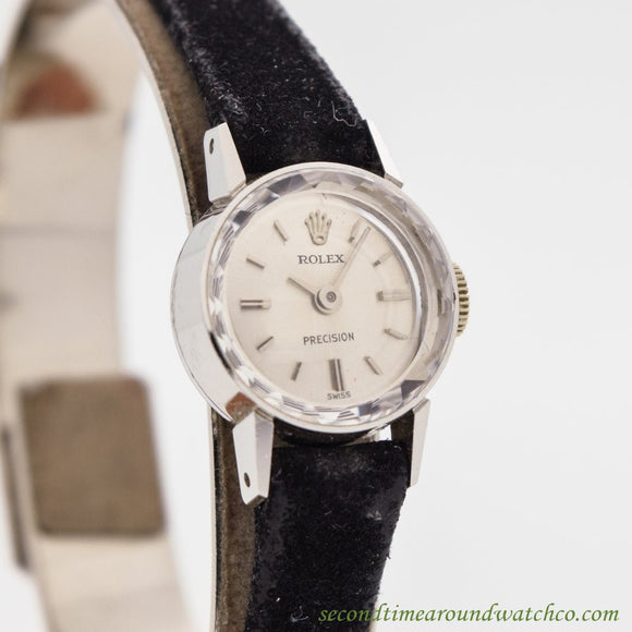 1959 Vintage Rolex Precision Ref. 2604 Ladies 18K White Gold Watch (# 10424)