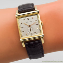 1940's Vintage Mathey-Tissot Square-shaped 14k Yellow Gold Watch