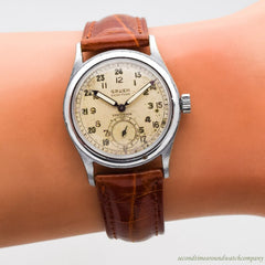1940's Vintage Gruen Veri-Thin Precision Panamerican Stainless Steel Watch
