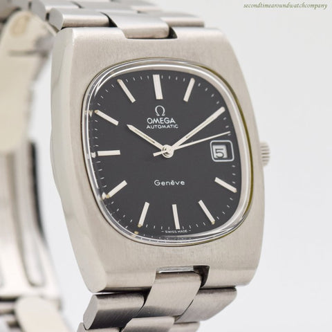 1973 Vintage Omega Geneve Automatic Date Stainless Steel Watch