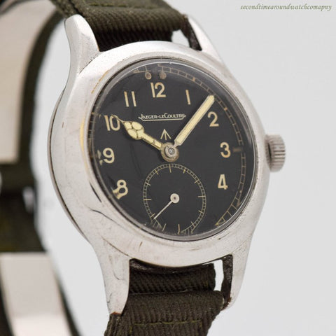 1940's era  Jaeger LeCoultre WWII-era Dirty Dozen Military Chrome & Stainless Steel Watch