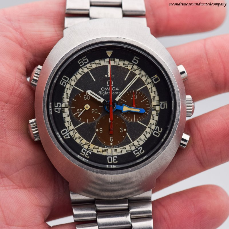 1970 Vintage Omega Flightmaster Reference 145.026 Stainless Steel Watch