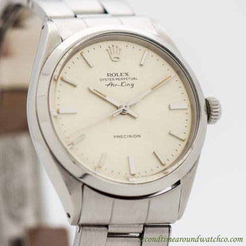 1972 Vintage Rolex Air-King Ref. 5500/1002 Stainless Steel Watch