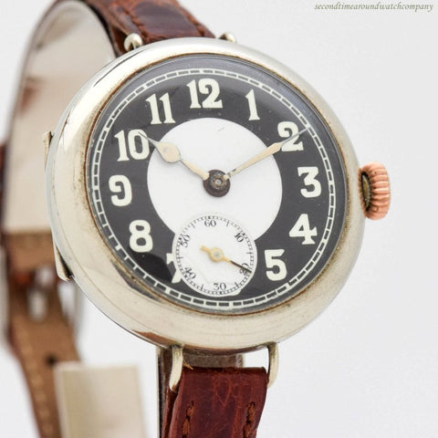 1910's era No Name 8 Day Base Metal Watch