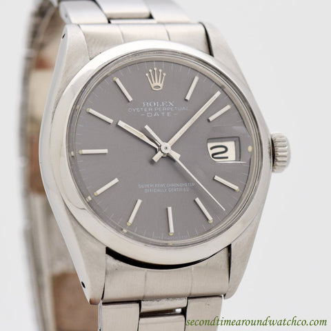 1972 Vintage Rolex Date Automatic Ref. 1500 Stainless Steel Watch
