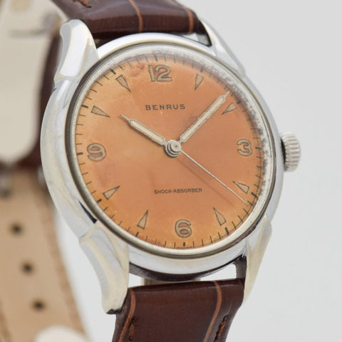1960's Vintage Benrus Chrome & Stainless Steel Watch