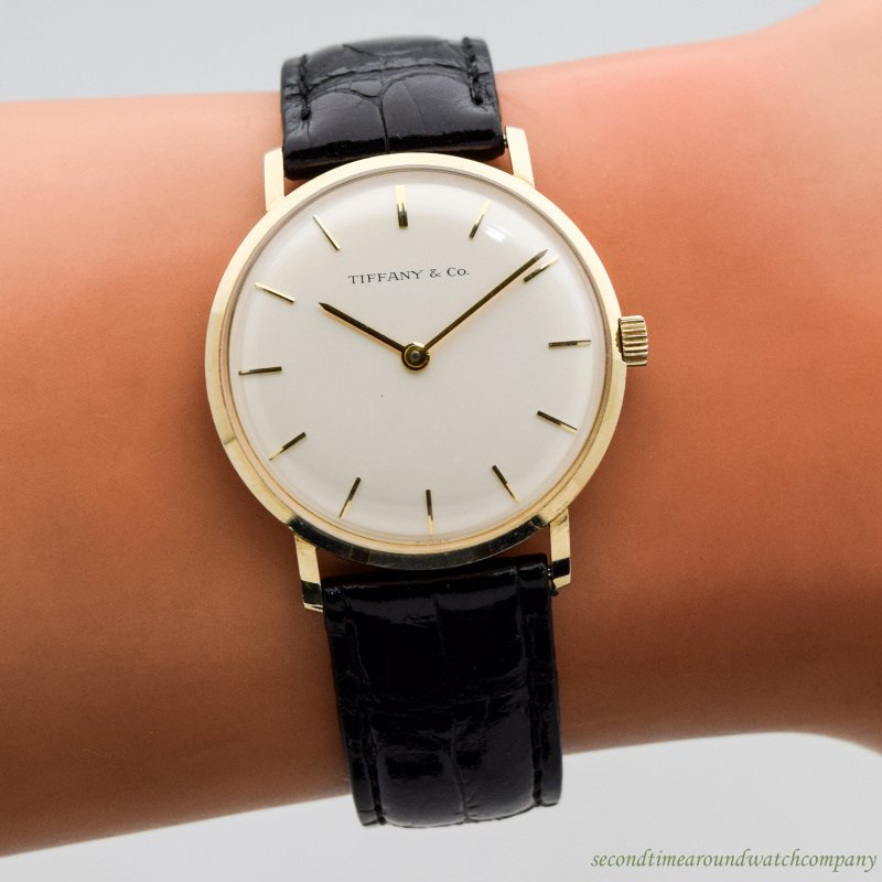 1969 Vintage Tiffany & Co. Reference T-101-C 14k Yellow Gold Watch