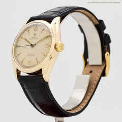 1951 Vintage Rolex Oyster Perpetual Ref 6084 14k Yellow Gold Watch