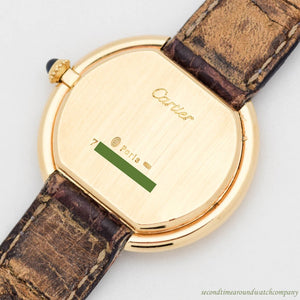 1990's Cartier Ellipse Gondole 18k Yellow Gold Watch