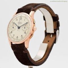 1946 Vintage Breitling Premier 2-Register Chronograph in 18k Rose Gold