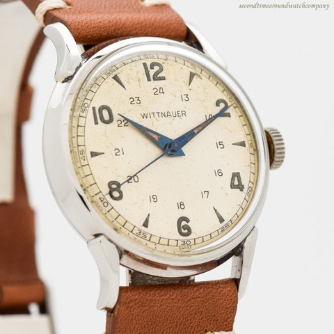 1940's Vintage Wittnauer Military WWII-era Stainless Steel Watch