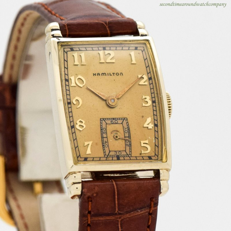 1937 Vintage Hamilton 10k Yellow Gold Filled Watch