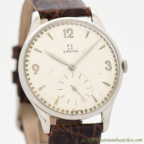 1949 Vintage Omega Jumbo Ref. 2181-4-B Stainless Steel Watch