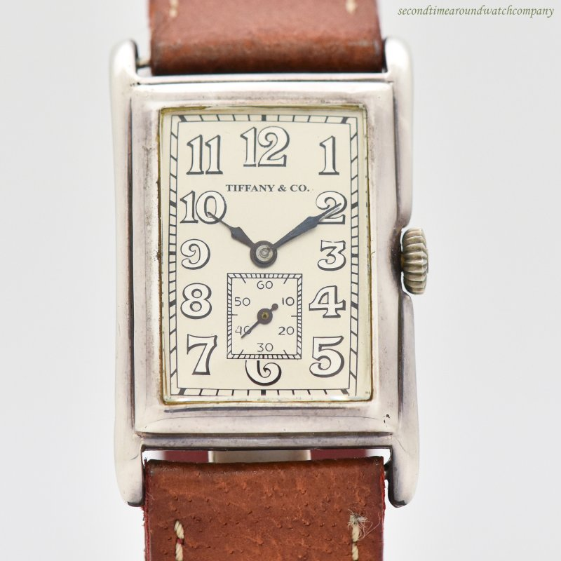 1927 Vintage Tiffany & Co. Rectangular-shaped Sterling Silver Watch