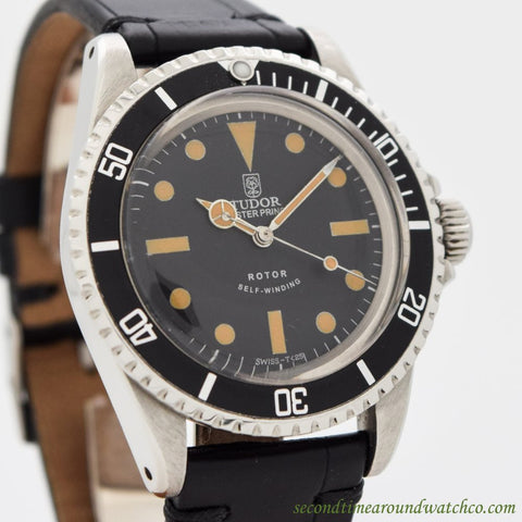 1964 Vintage Tudor By Rolex Submariner Ref. 7928 Stainless Steel Watch