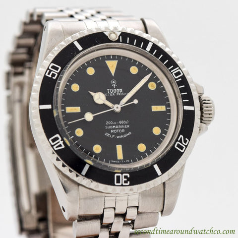 1967 Vintage Tudor By Rolex Submariner Ref. 7928 Stainless Steel Watch
