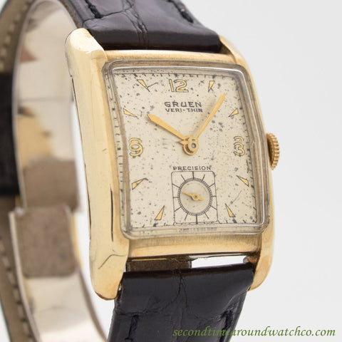 1947 Vintage Gruen Ver-thin Precision 10k Yellow Gold Filled Watch