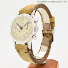 1950's Vintage Gallet 2-Register Chronograph Stainless Steel Watch