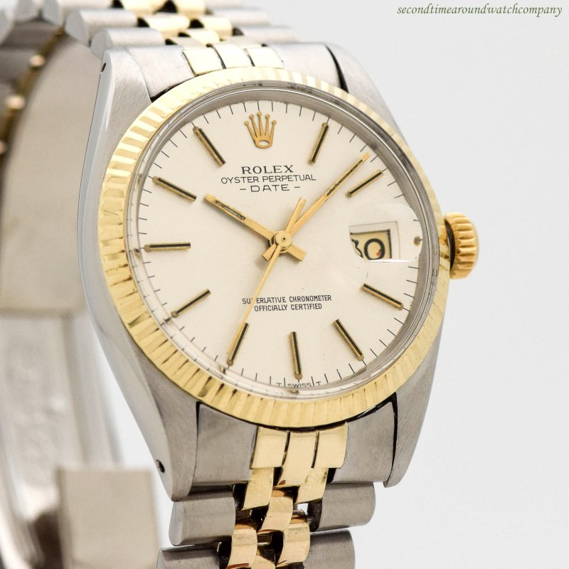 1968 Vintage Rolex Date Automatic Reference 1500 14k Yellow Gold & Stainless Steel Watch
