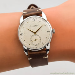 1942 Vintage International Watch Co. (IWC) Stainless Steel Watch
