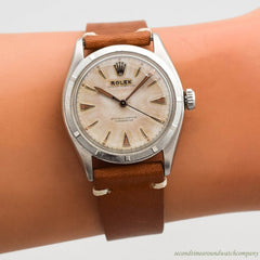 1950 Vintage Rolex Oyster Perpetual Ref. 6085 Stainless Steel Watch