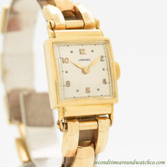 1951 Vintage Longines Ladies 18k Yellow Gold Watch