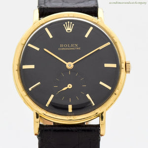 A. Men's Vintage  Rolex Chronometre 18k Yellow Gold