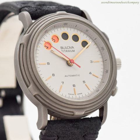 1980's Vintage Bulova Titanium Automatic Ref. 11495 Yachting Watch