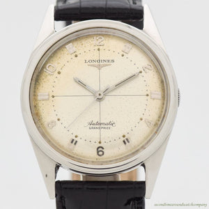 1956 Vintage Longines Grand Prize Automatic Stainless Steel Watch