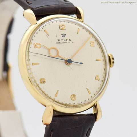 1956 Vintage Rolex Chronometer Reference 4411 14k Yellow Gold Watch