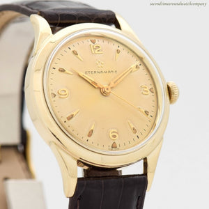 1957 Vintage Eterna Eterna-matic 10k Yellow Gold Filled Watch (# 12018)