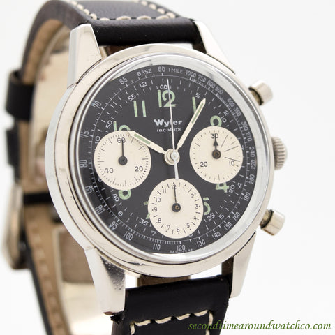 1960's Wyler Incaflex Chronograph Ref. 1502-5-1291 Stainless Steel Watch