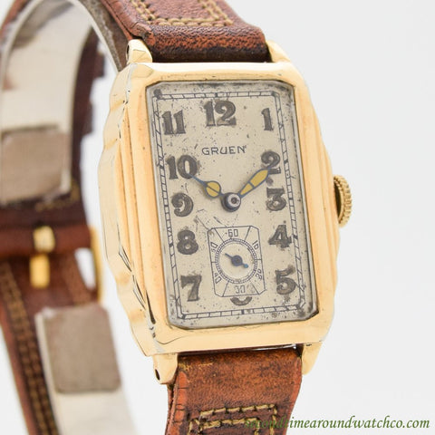 1930's Vintage Gruen 14K Rose Gold Filled Watch