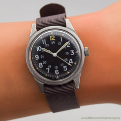 1969 Vintage Benrus US Military Air Force Ref. DTU-2A/P Stainless Steel Watch