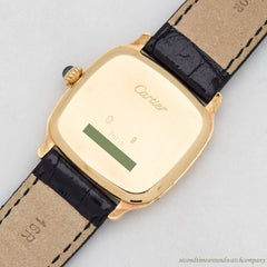 2010's era Cartier Cushion-shaped 18k Yellow Gold Watch