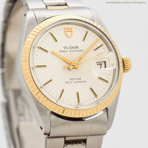 1968 Vintage Tudor By Rolex Prince Oysterdate Ref. 90733 14k Yellow Gold & Stainless Steel Watch