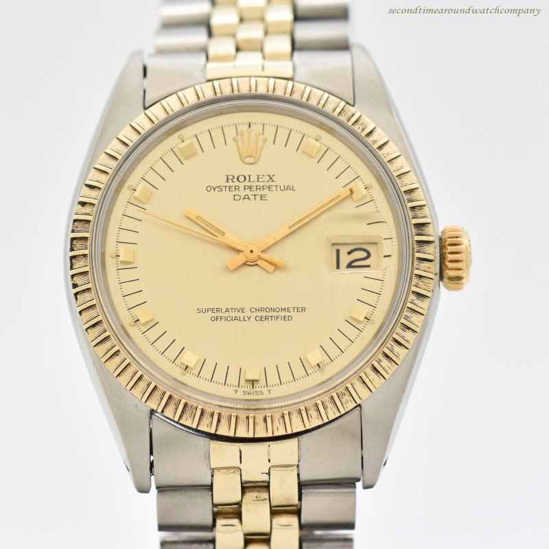 1969 Vintage Rolex Date Automatic Reference 1505 14k Yellow Gold & Stainless Steel Watch