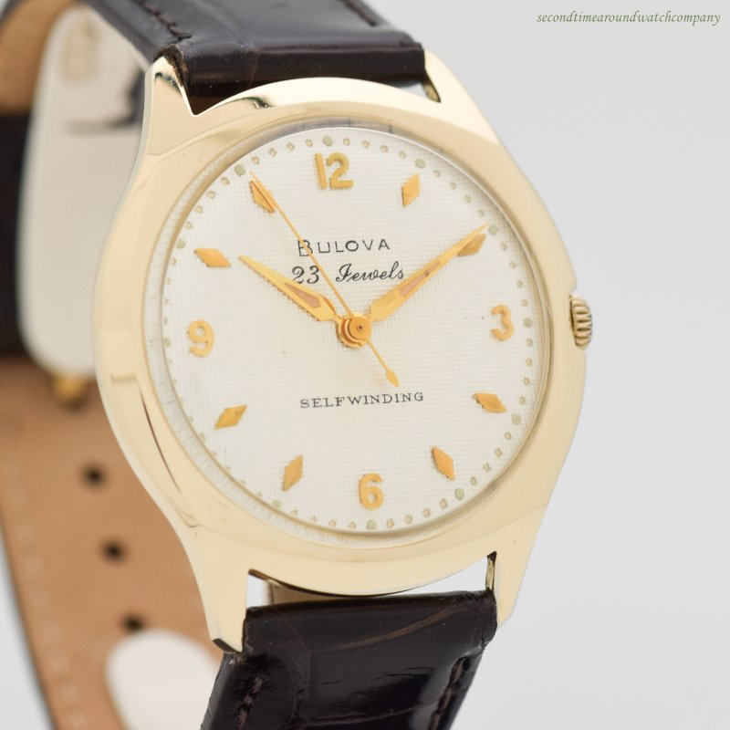 1959 Vintage Bulova 10k Yellow Gold Filled Watch