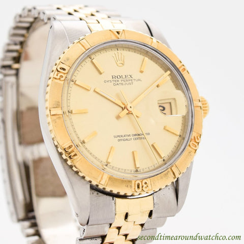 1965 Vintage Rolex Thunderbird Datejust Ref. 1625 14k Yellow Gold & Stainless Steel Watch