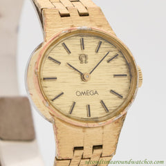 1977 Vintage Omega Ladies Yellow Gold Plated Watch