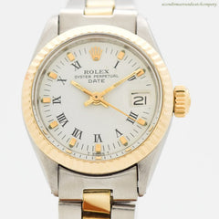 1971 Vintage Rolex Date Automatic Ladies with with a 14k Yellow Gold & Stainless Steel Case