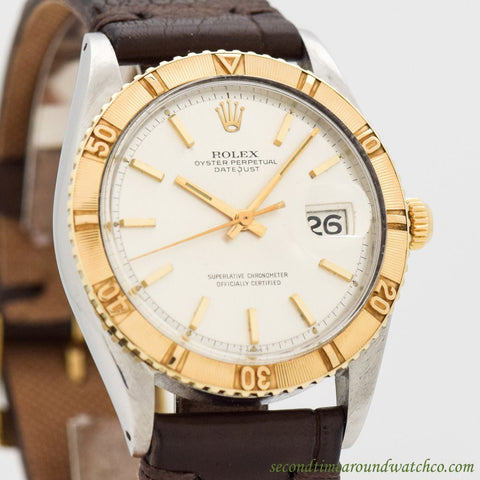 1968 Vintage Rolex Thunderbird Datejust 18k Yellow Gold & Stainless Steel Watch